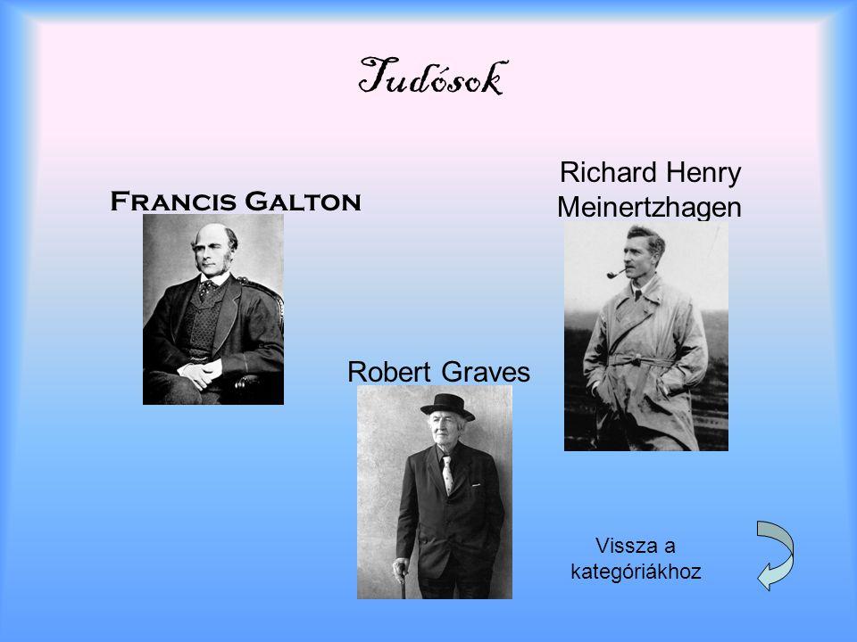 Tudósok Francis Galton Richard Henry Meinertzhagen Robert Graves Vissza a kategóriákhoz