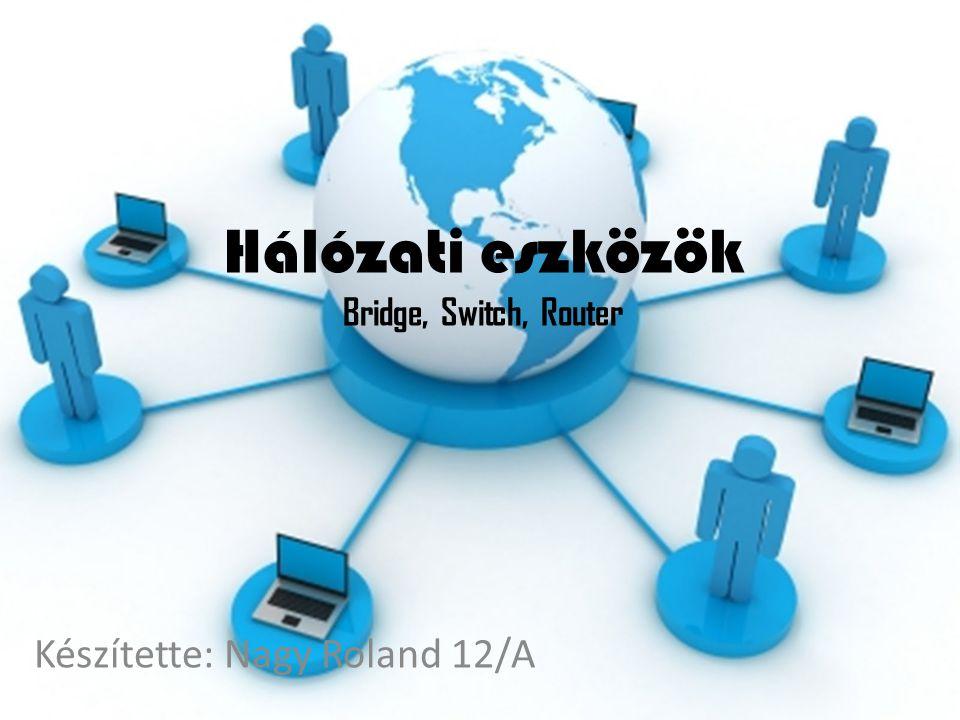 Hálózati eszközök Bridge, Switch, Router Készítette: Nagy Roland 12/A