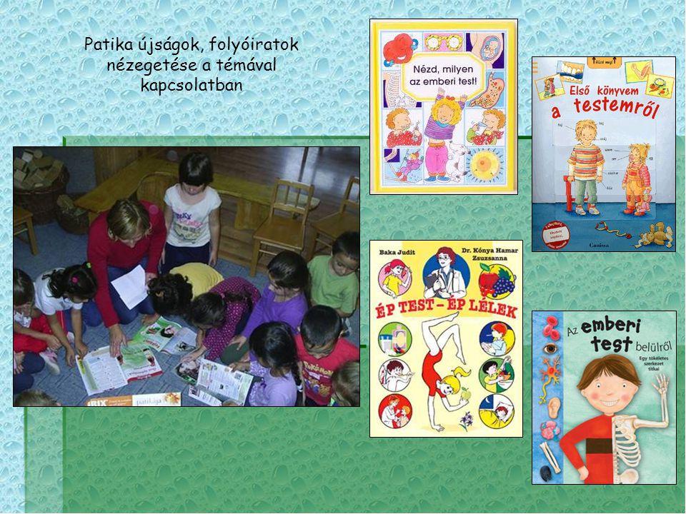 Patika újságok, folyóiratok nézegetése a témával kapcsolatban