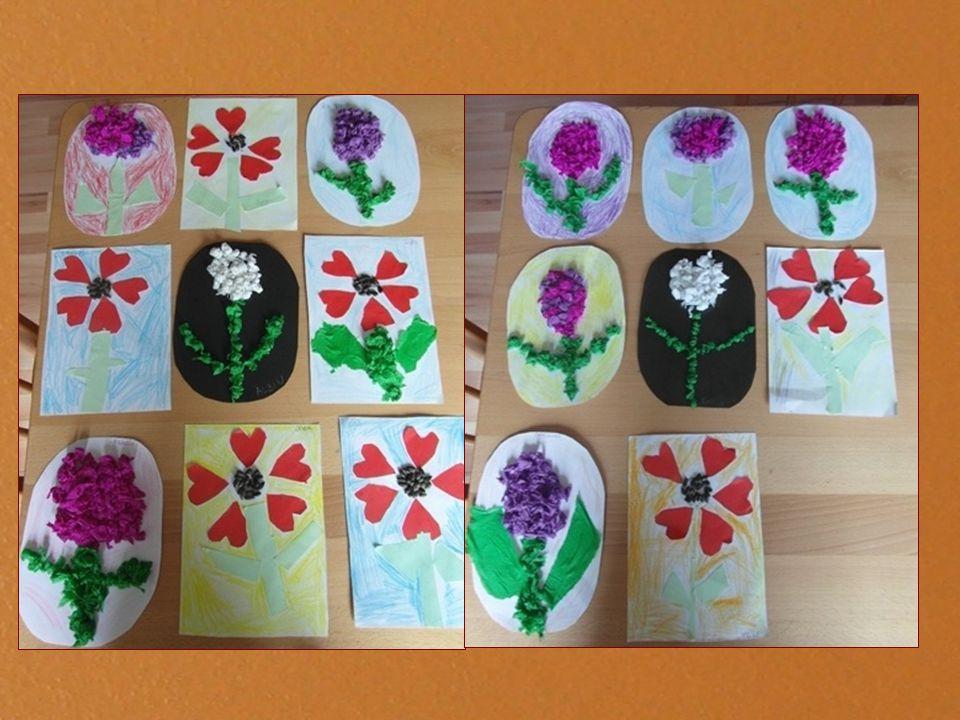 Pet palack nyomdával virágzó fa készítése, festése