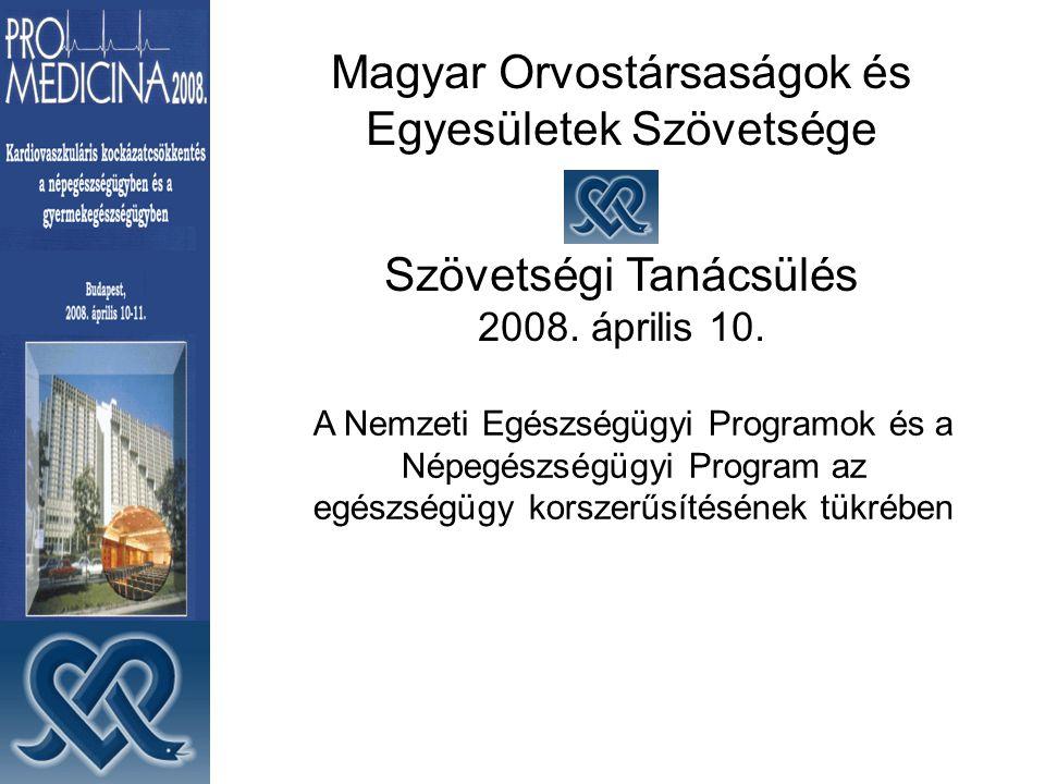 Magyar Orvostársaságok és Egyesületek Szövetsége Szövetségi Tanácsülés 2008.