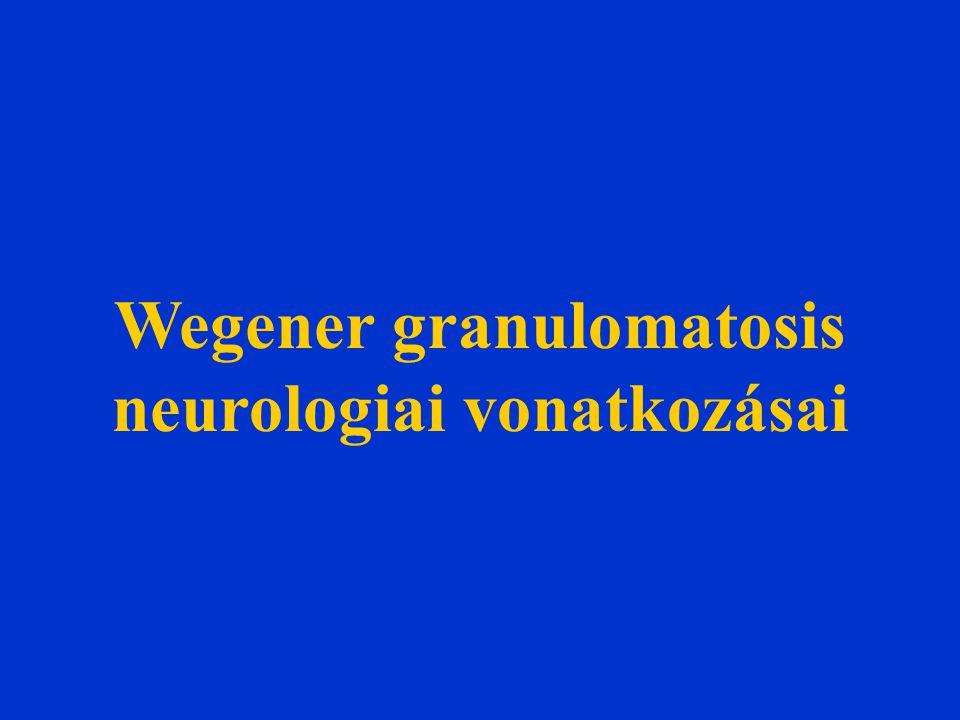 Wegener granulomatosis neurologiai vonatkozásai