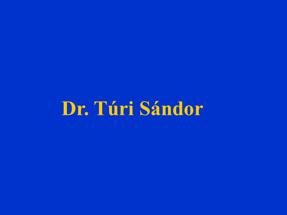Dr. Túri Sándor