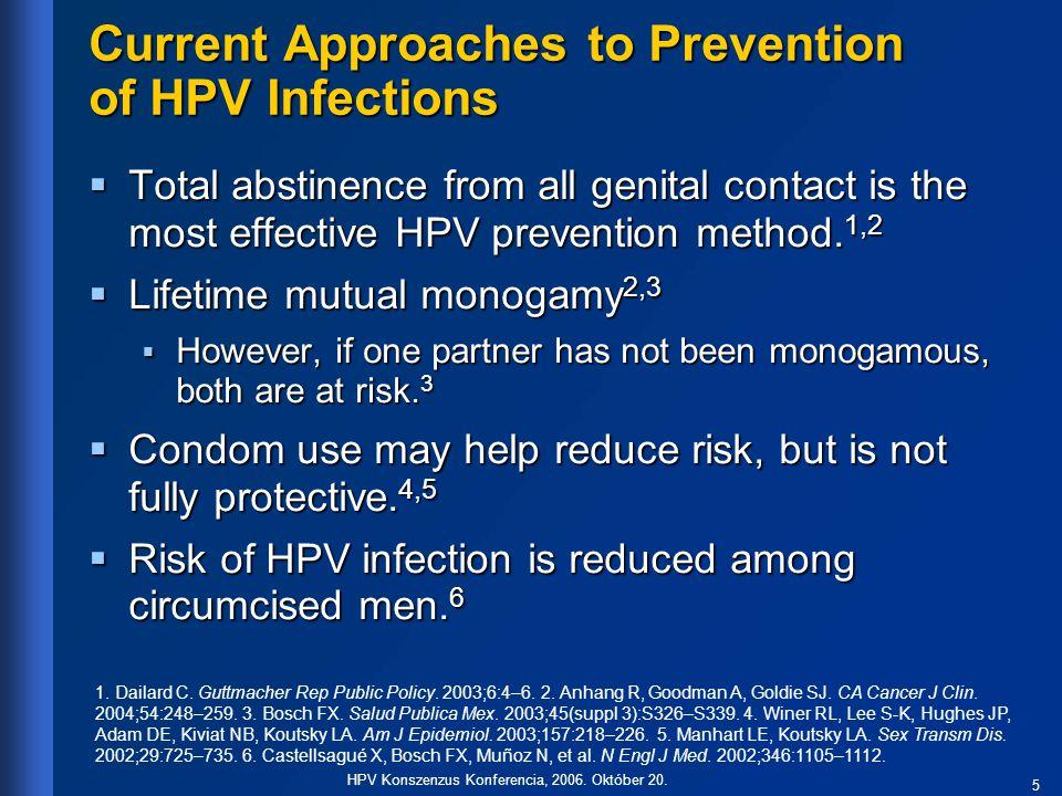 6 HPV Konszenzus Konferencia, 2006.Október 20.
