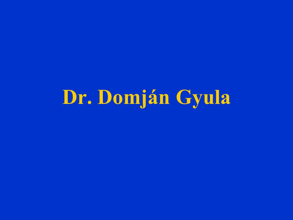Dr. Domján Gyula