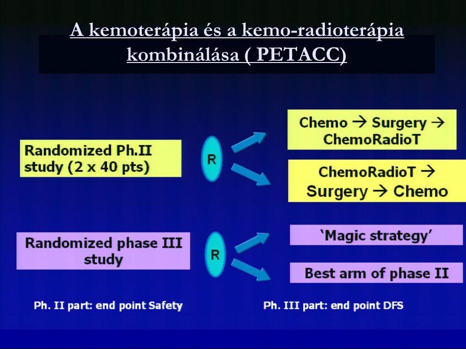 A kemoterápia és a kemo-radioterápia kombinálása ( PETACC)