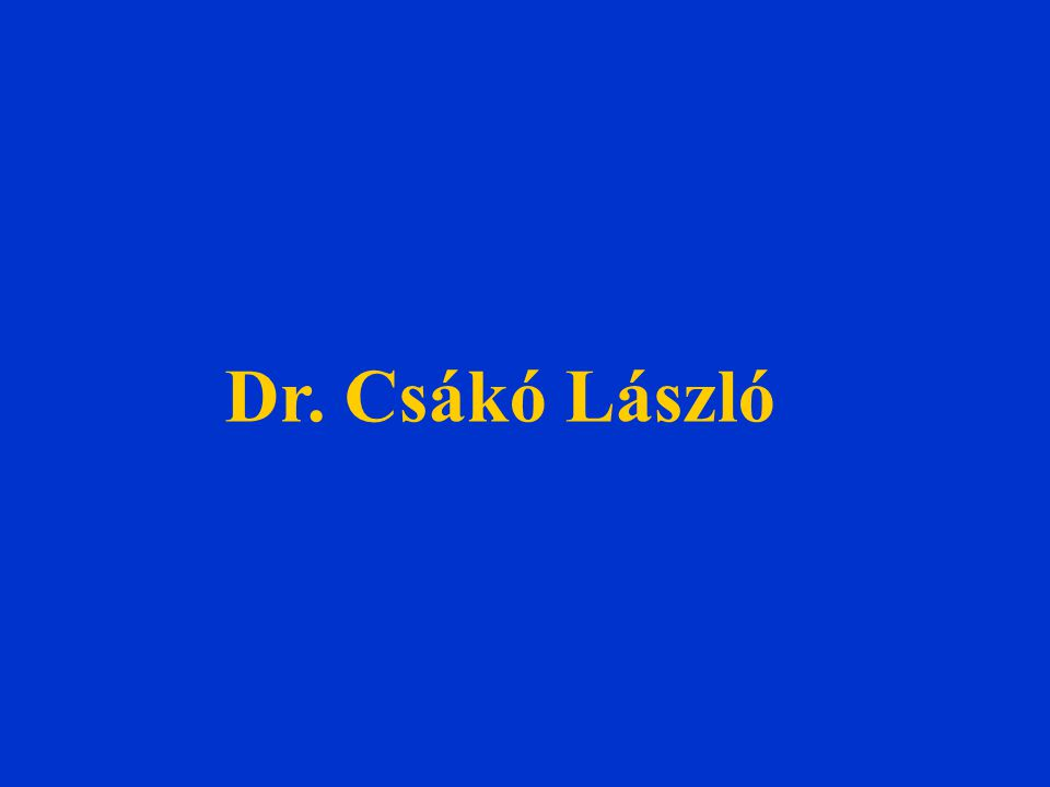 Dr. Csákó László