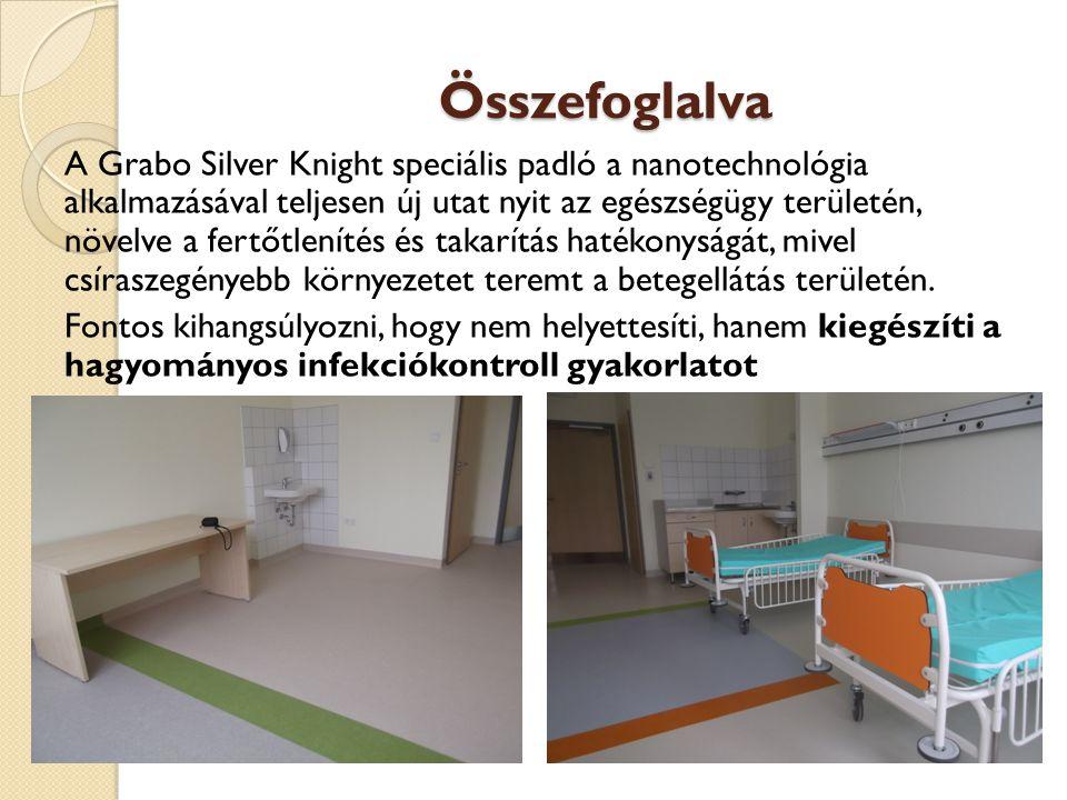 Összefoglalva A Grabo Silver Knight speciális padló a nanotechnológia alkalmazásával teljesen új utat nyit az egészségügy területén, növelve a fertőtl