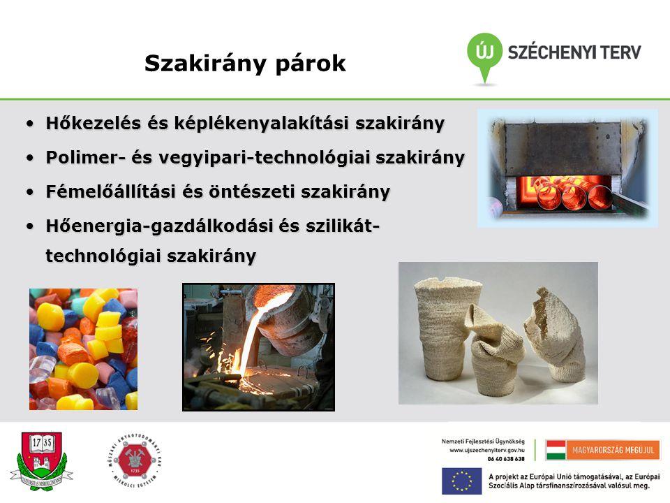 Anyagmérnök alapszak (BSc) Anyagmérnöki területen 7 féléves, gyakorlatorientált képzés. Képzési cél: a szakterület általános és a szakirány speciális