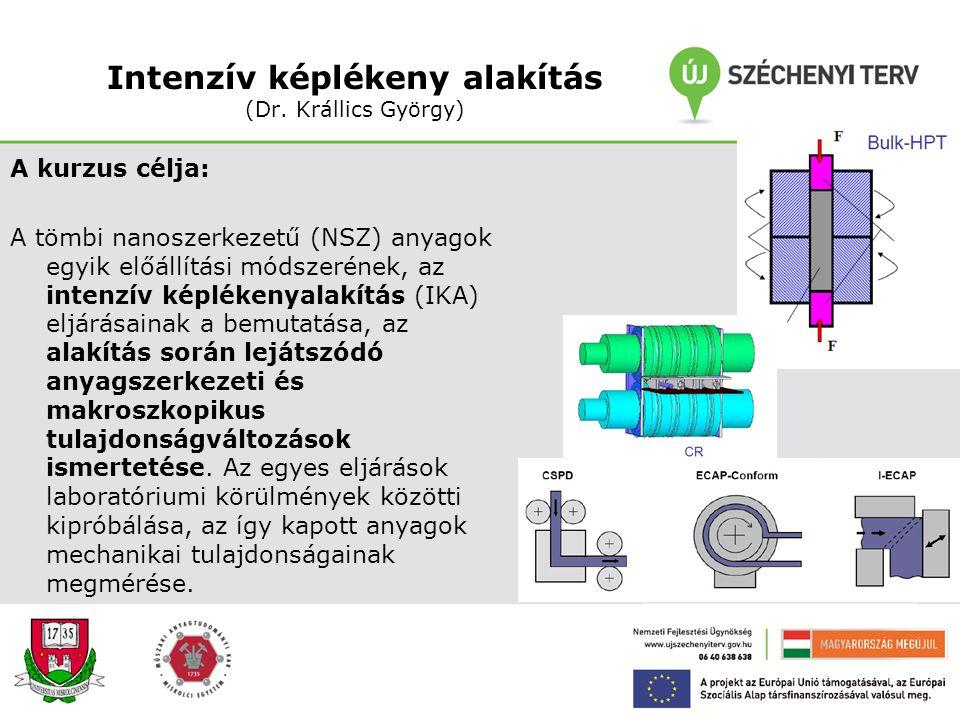 Határfelületi nano-jelenségek (Prof. Dr. Kaptay György) A kurzus célja: Megmutatni, hogy a nano anyagokban az atomok/molekulák több mint 1 %- a van a