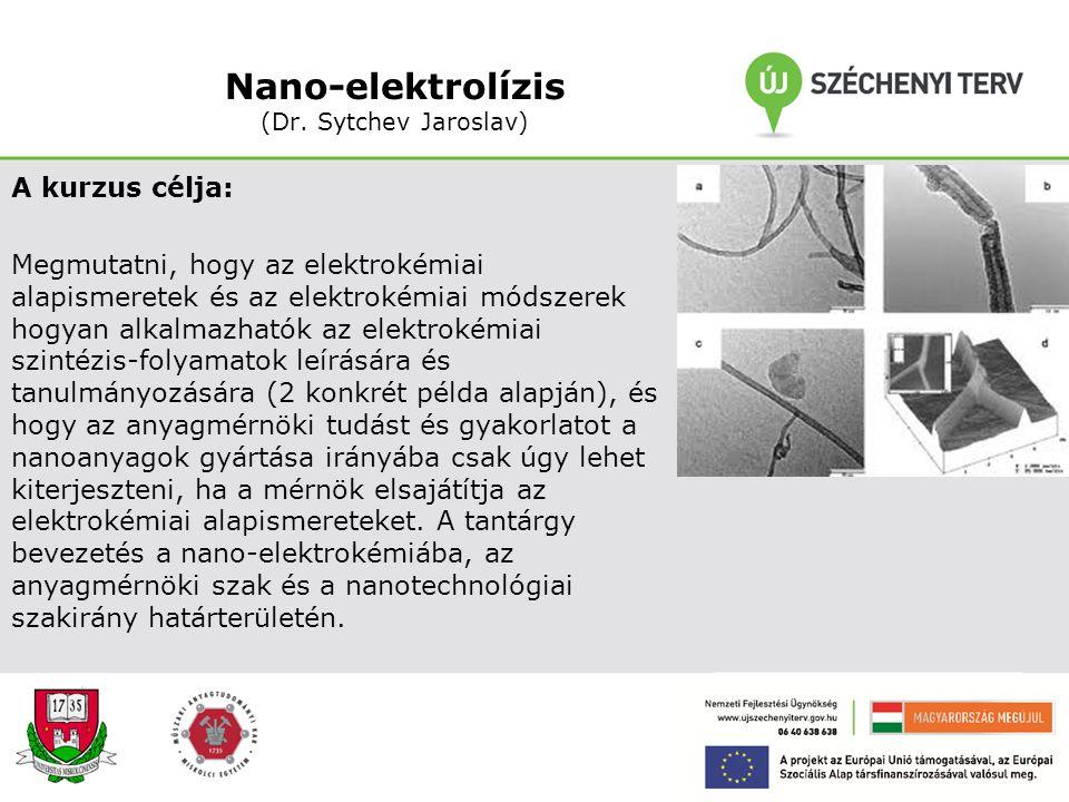 Nano-anyagok egyensúlya (Prof. Dr. Kaptay György) A kurzus célja: Megmutatni, hogy a nanoanyagokban az atomok/molekulák több mint 1 %-a van a határfel