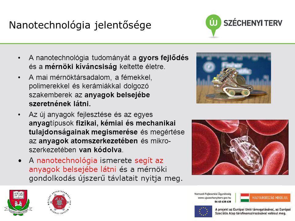 Nanotechnológiai BSc és MSc szakirány bemutatása Tartalom: –Nanotechnológia fontossága –A nanotechnológia helye az anyagmérnök, kohómérnök képzésben –