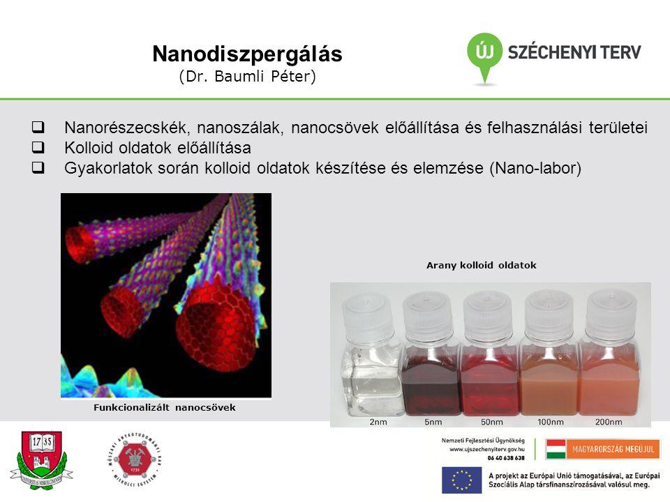 Tömbi nanoanyagok A kurzus célja: Az előadás célja a tömbi nanoszerkezetű (NSZ) anyagok előállítási módszereinek, mikro- szerkezetének és speciális tu