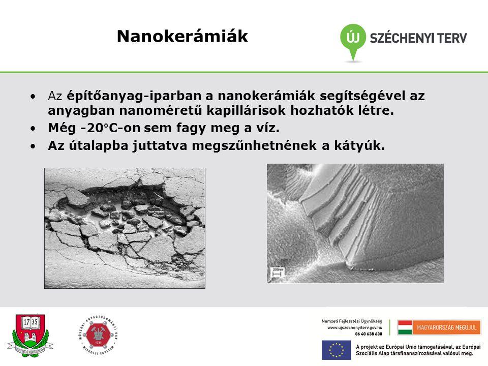 Nanocsövek felhasználási területei A szén nanocső, mint szerkezeti anyag! Nano-csöveket foglalunk (polimer, fém, kerámia…) alapanyagba Eredmény: a csö