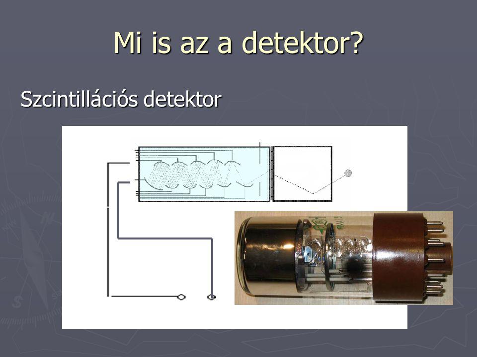 Mi is az a detektor.Félvezető detektor ► Kapcsoljunk feszültséget a félvezetőre.