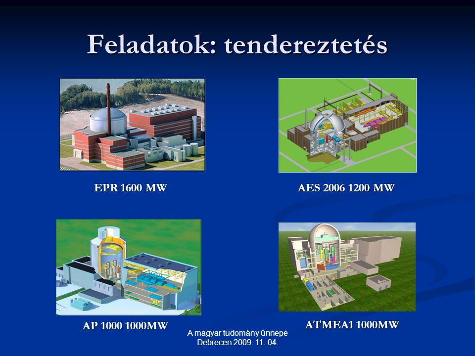Feladatok: tendereztetés A magyar tudomány ünnepe Debrecen 2009.