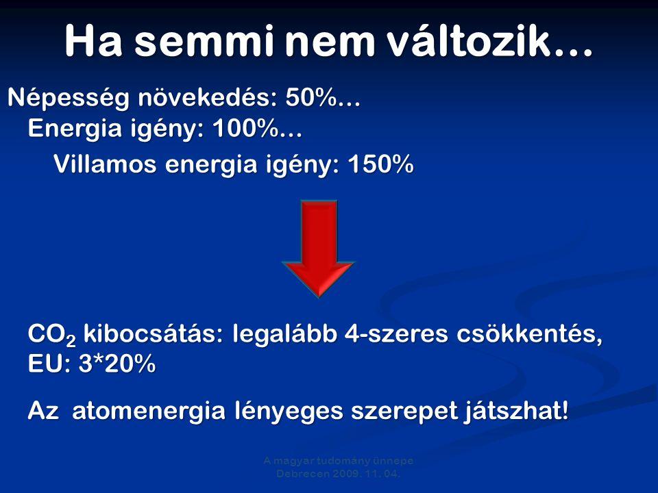 Ha semmi nem változik… A magyar tudomány ünnepe Debrecen 2009.