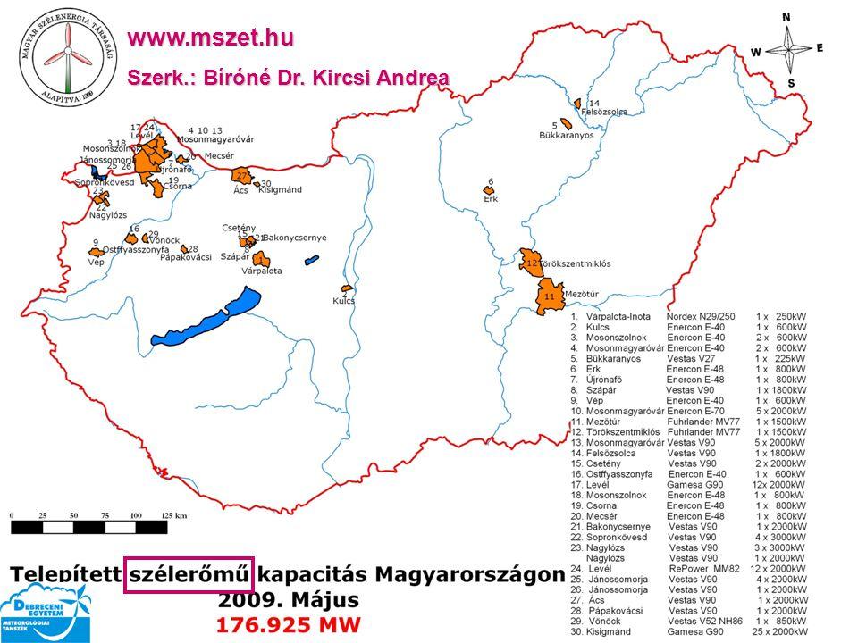 www.mszet.hu Szerk.: Bíróné Dr. Kircsi Andrea