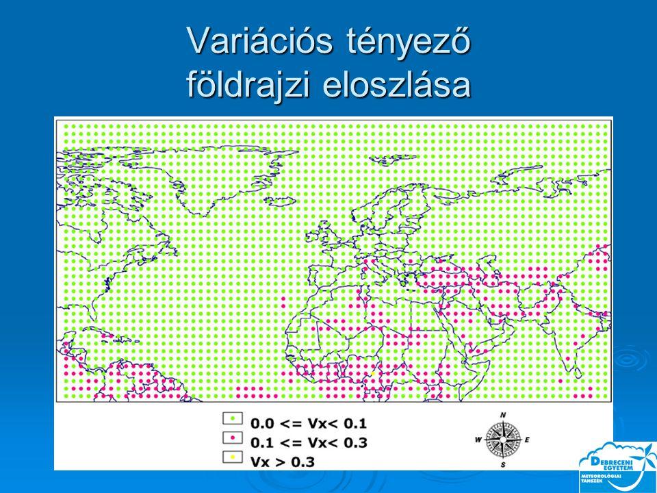Variációs tényező földrajzi eloszlása
