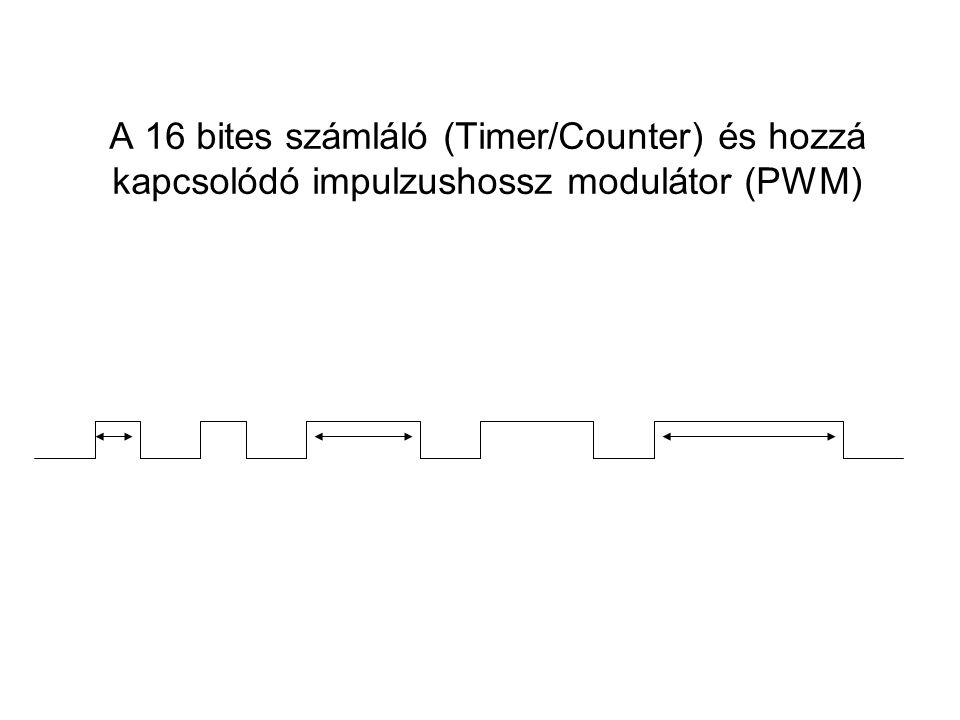 A 16 bites számláló (Timer/Counter) és hozzá kapcsolódó impulzushossz modulátor (PWM)