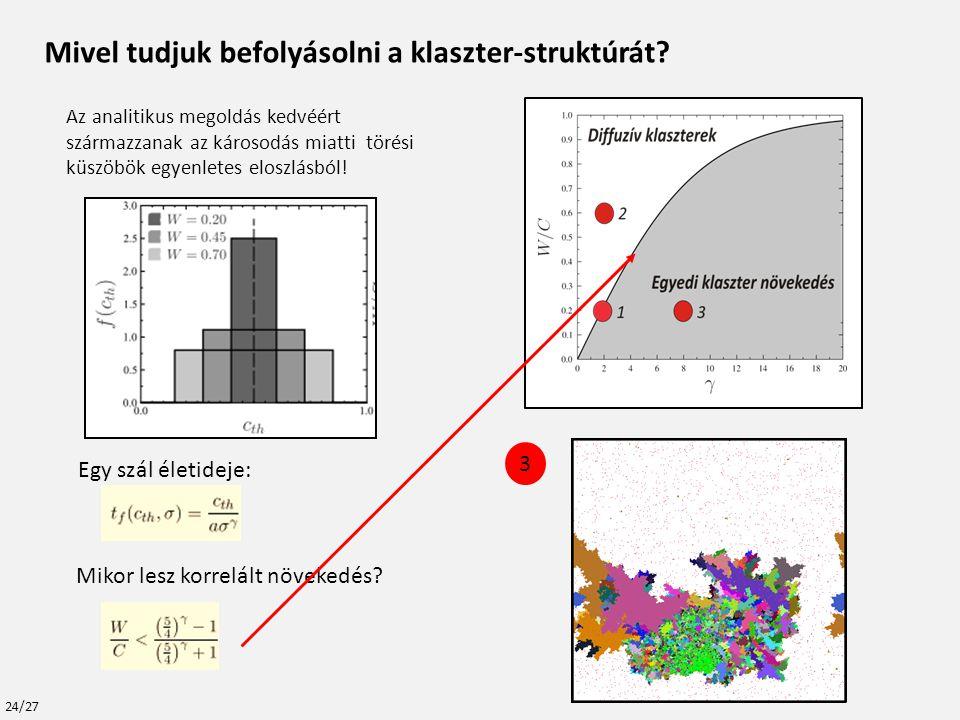 Mivel tudjuk befolyásolni a klaszter-struktúrát.