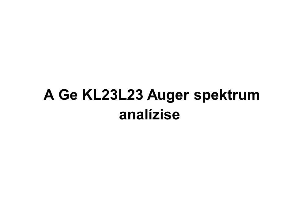 A Ge KL23L23 Auger spektrum analízise