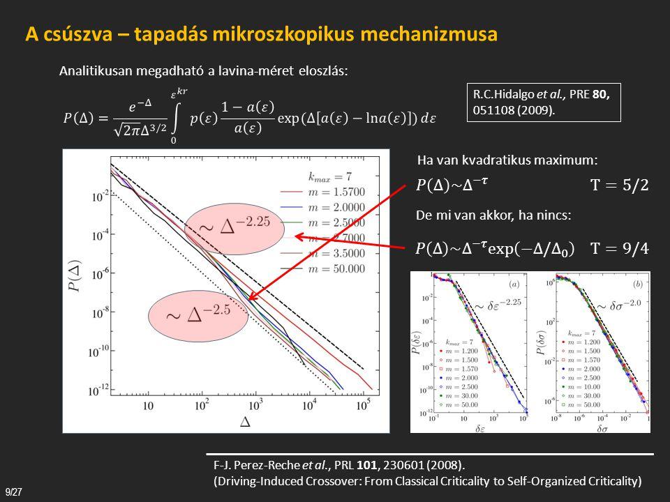 Tézispontok a stick – slip dinamika vizsgálata tárgyköréből 1.A klasszikus szálkötegmodell olyan kiterjesztését dolgoztam ki, amelynek segítségével lehetővé vált a külső terhelésre a csúszva – tapadás dinamikájával válaszoló rendszerek realisztikus vizsgálata.