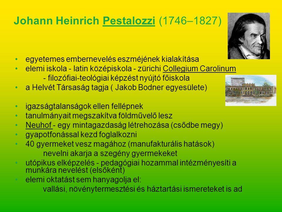 egyetemes embernevelés eszméjének kialakítása elemi iskola - latin középiskola - zürichi Collegium Carolinum - filozófiai-teológiai képzést nyújtó fői