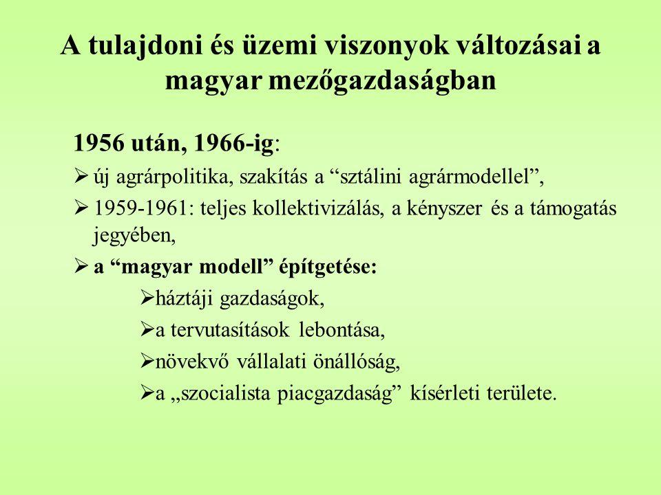 """A tulajdoni és üzemi viszonyok változásai a magyar mezőgazdaságban 1956 után, 1966-ig:  új agrárpolitika, szakítás a """"sztálini agrármodellel"""",  1959"""