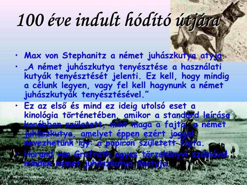 100 éve indult hódító útjára Max von Stephanitz a német juhászkutya atyja.