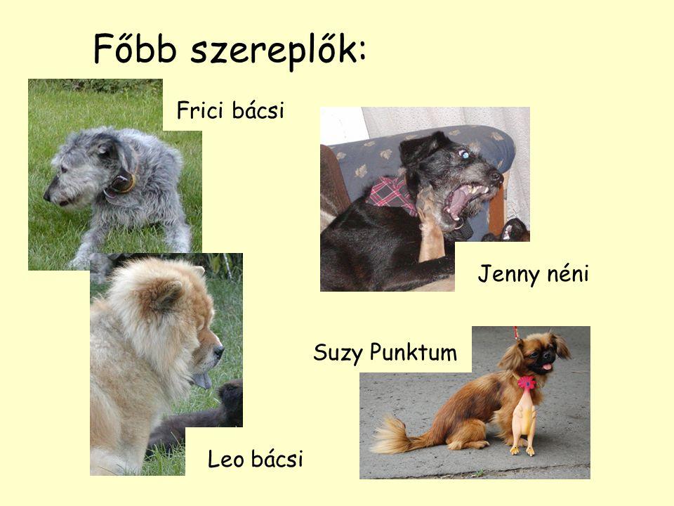Főbb szereplők: Jenny néni Frici bácsi Leo bácsi Suzy Punktum