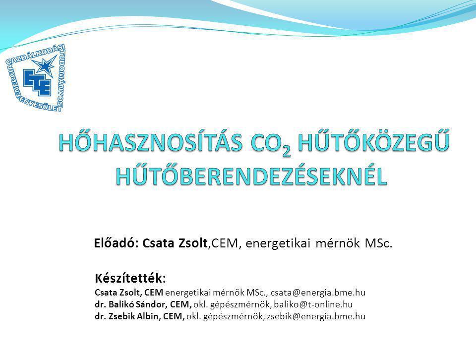 Az előadás felépítése: a CO 2 alkalmazásának okai a vizsgált körfolyamat és hőhasznosítás kapcsolási vázlata a környezet és üzemviteli paraméterek kölcsönhatása hőhasznosítási lehetőségek elemzése az eredmények összefoglalása