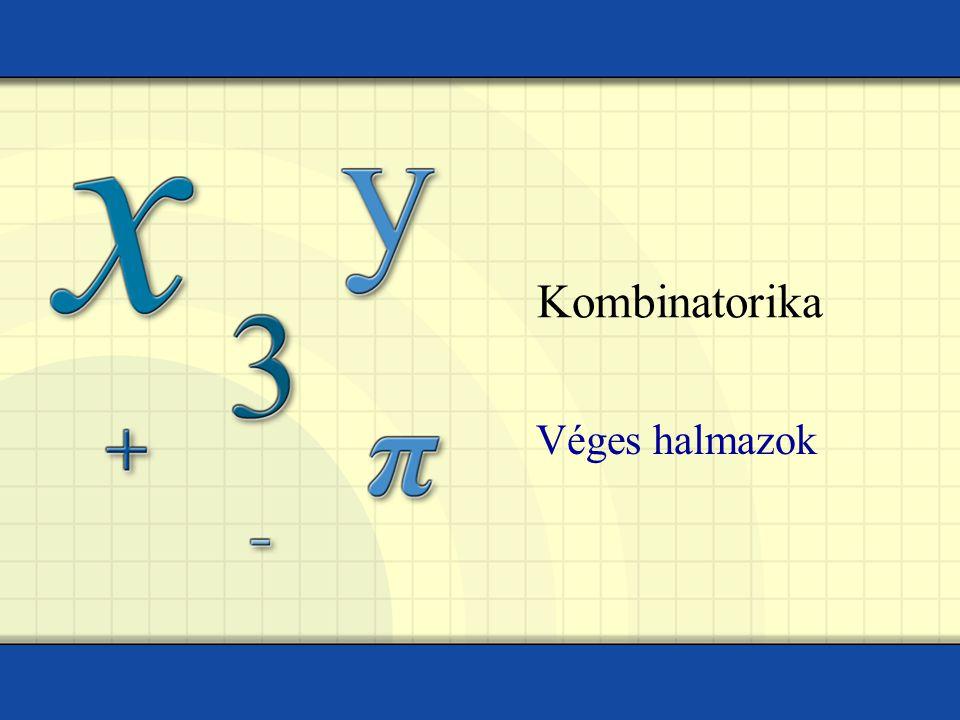 Kombinatorika Véges halmazok