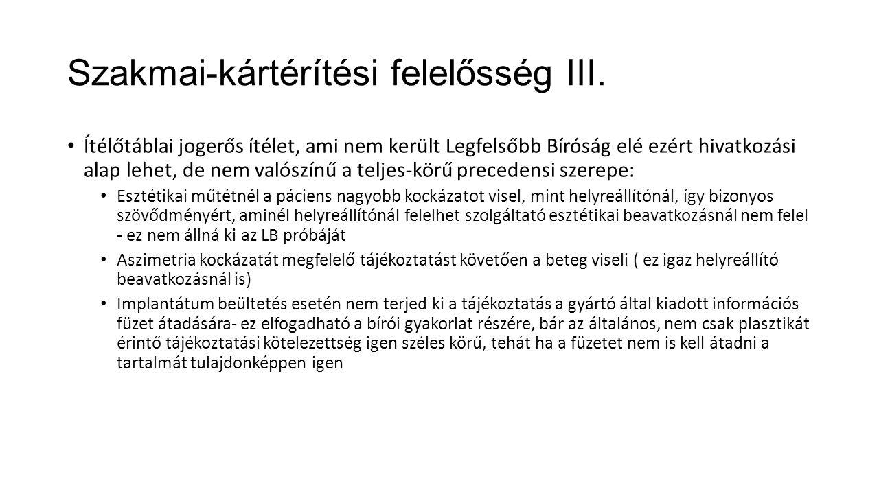 Szakmai-kártérítési felelősség III.