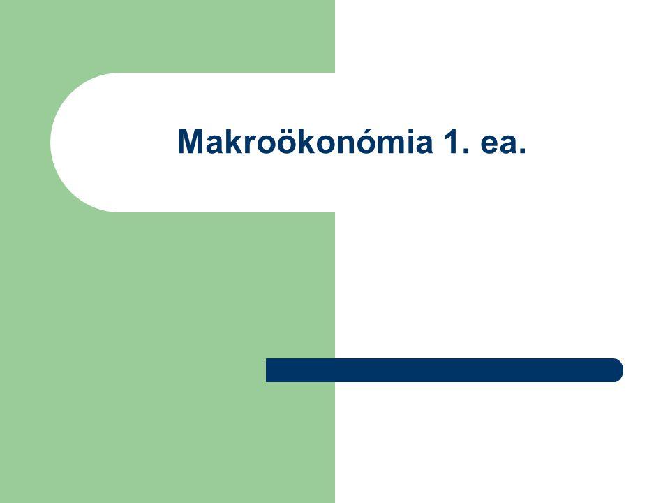 Makroökonómia 1. ea.