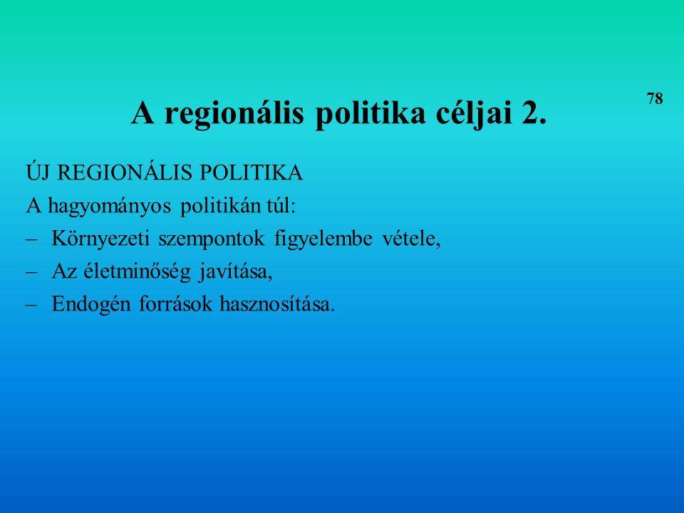 A területi irányítás alrendszerei –Tervezési (programalkotó), –Szabályozási (közvetítő), –Intézményi (szervezeti).