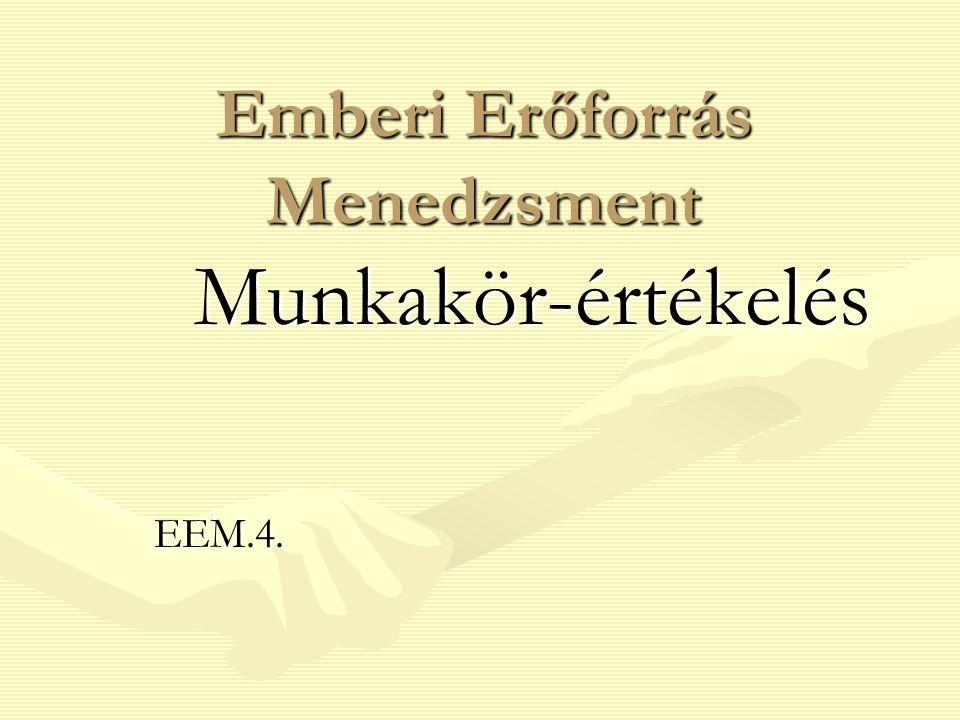 Emberi Erőforrás Menedzsment Munkakör-értékelés EEM.4.