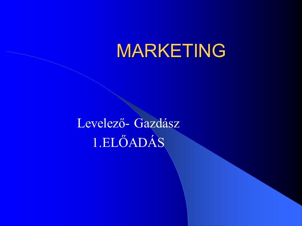 TEMATIKA A marketing fogalma és fejlődése A marketingkutatás, MIR A fogyasztói magatartás Piac jellemzői, célpiac meghatározása 4-P Vállalati stratégiák Versenyszemlélet alapjai