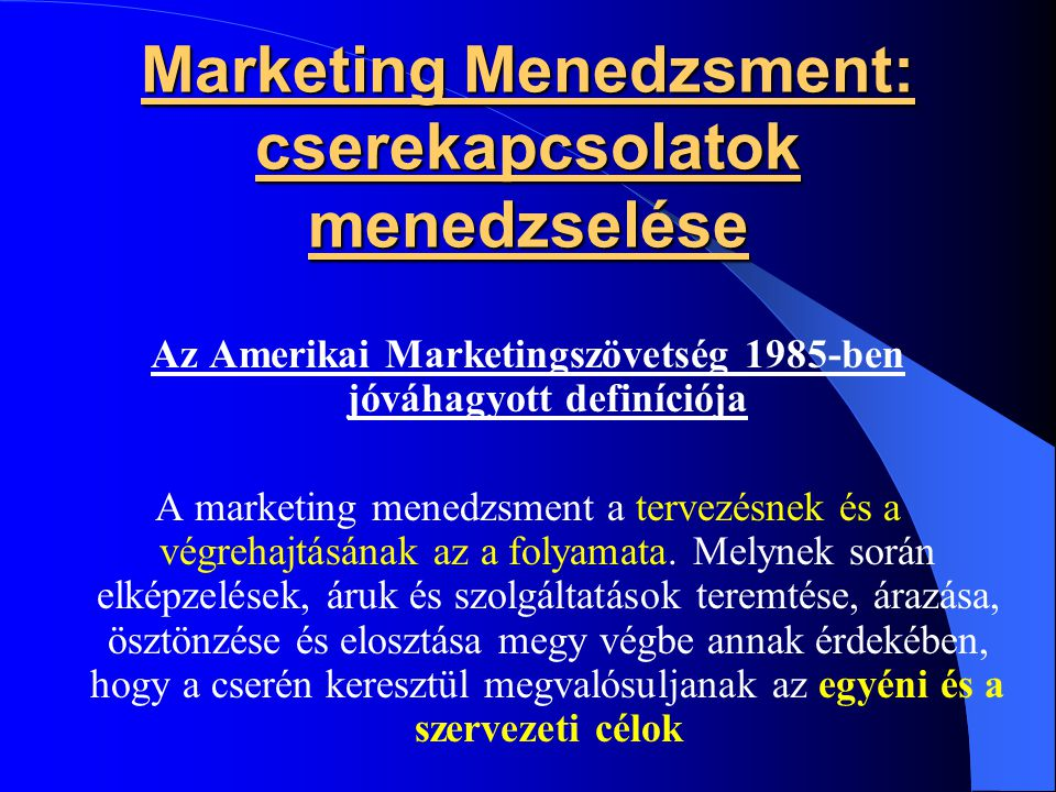 Marketing McCarthy: Marketing- Mix Befolyásoló marketingeszközök 4P- POLITIKÁK 1.