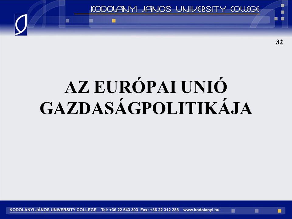 32 AZ EURÓPAI UNIÓ GAZDASÁGPOLITIKÁJA