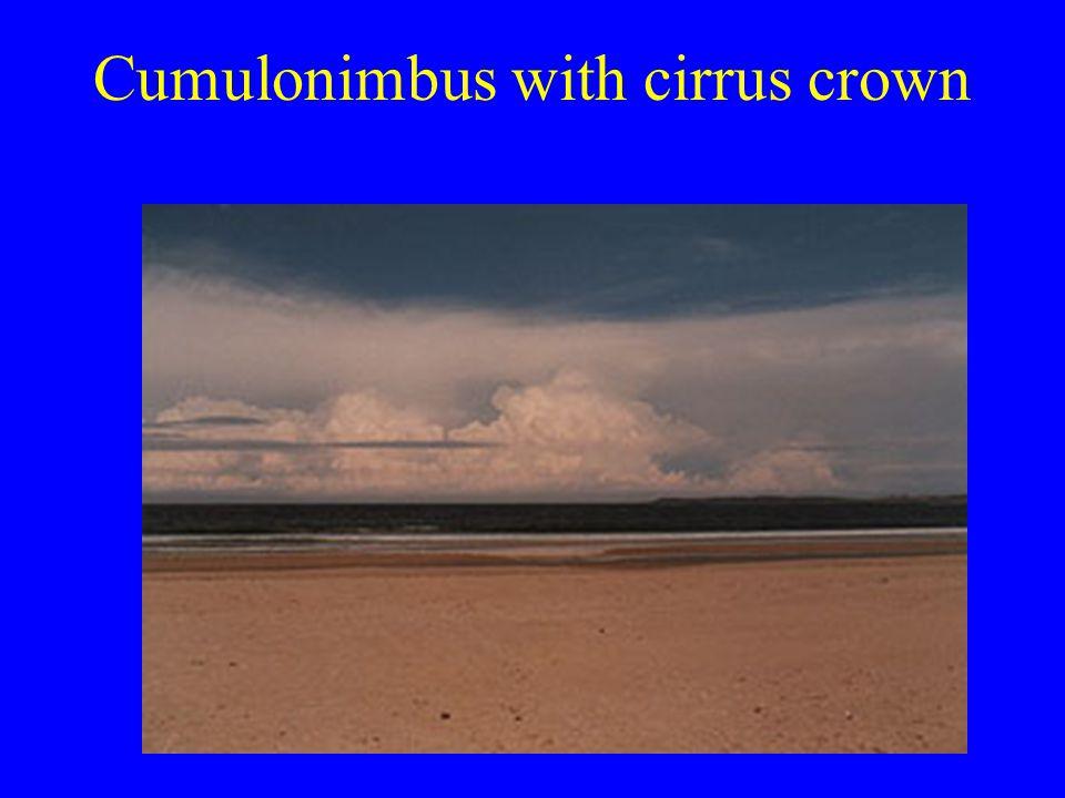 Cumulonimbus with cirrus crown