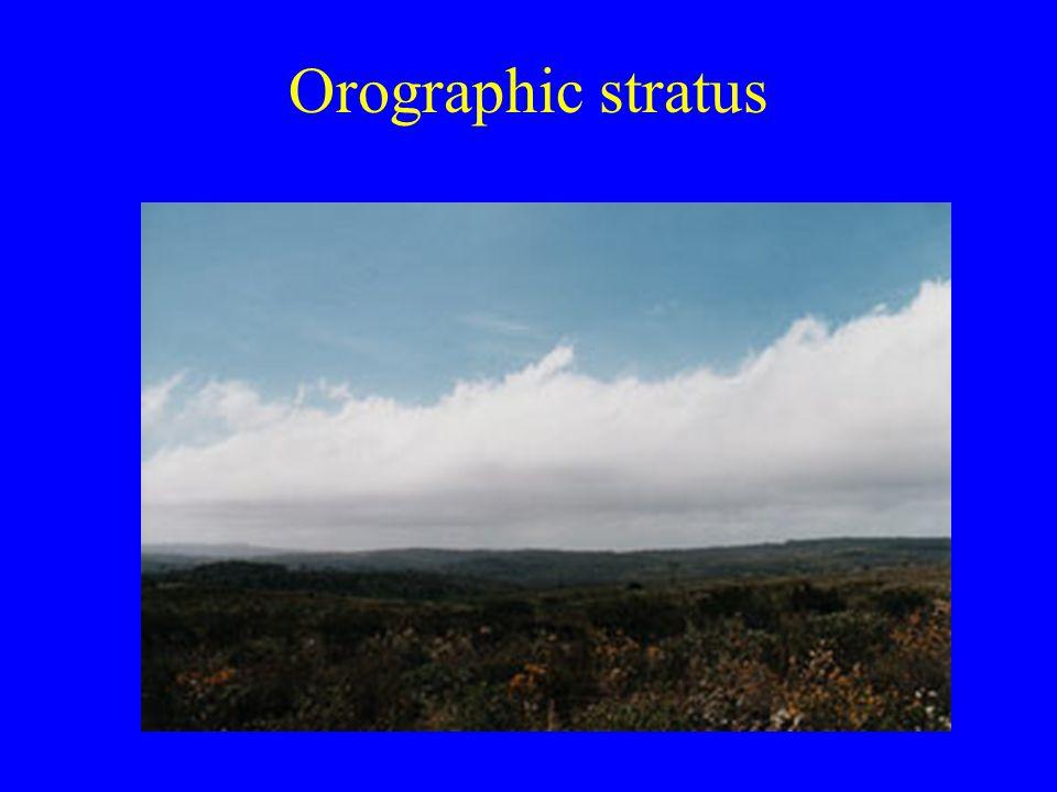Orographic stratus