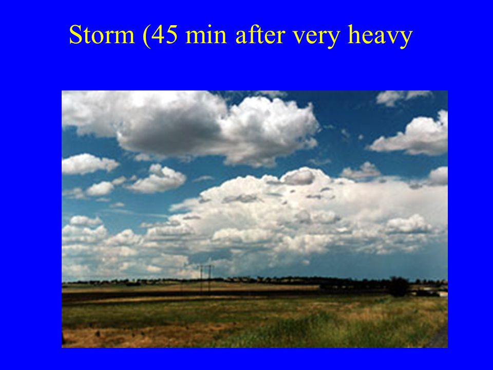 Storm (45 min after very heavy