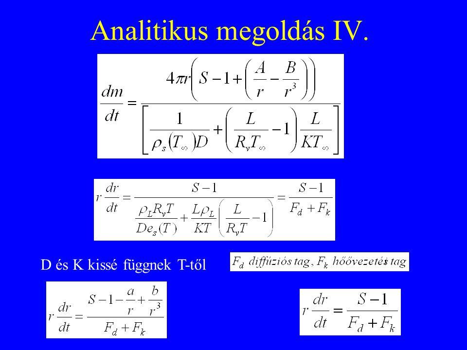 Mason analitikus megoldása IV.