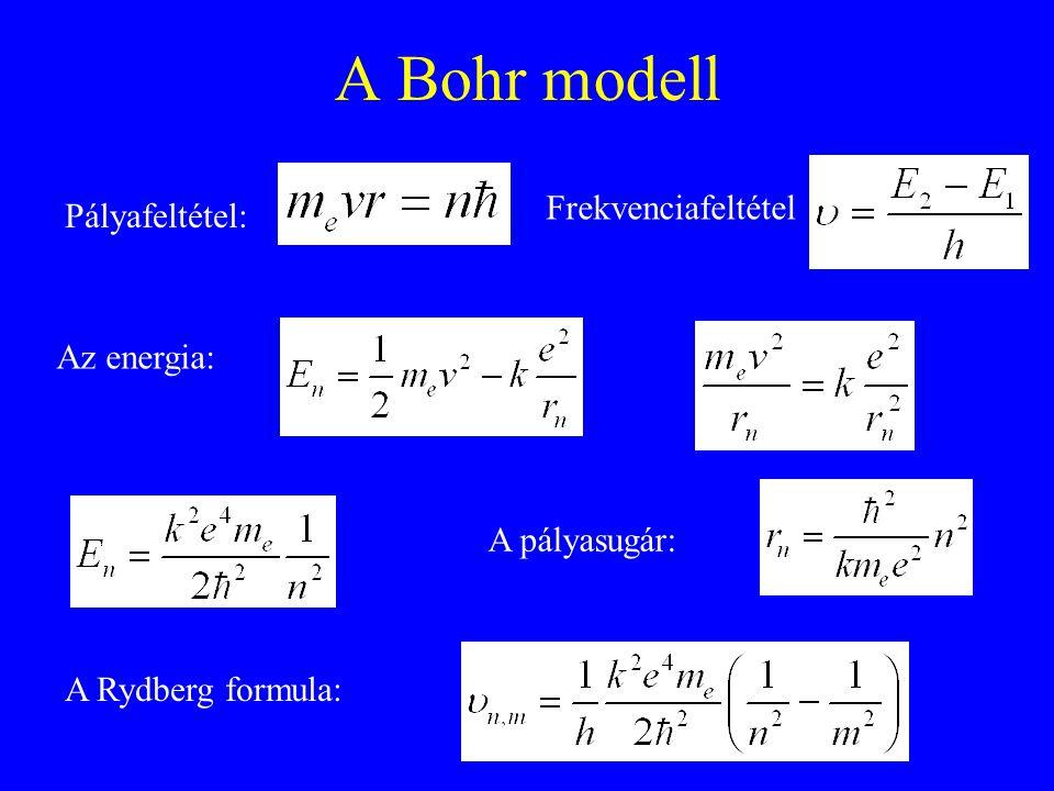 Atomi színképek Emissziós és abszorpciós színkép Vonalas szerkezet Termek, energia -ban Kiválasztási szabály nincsen