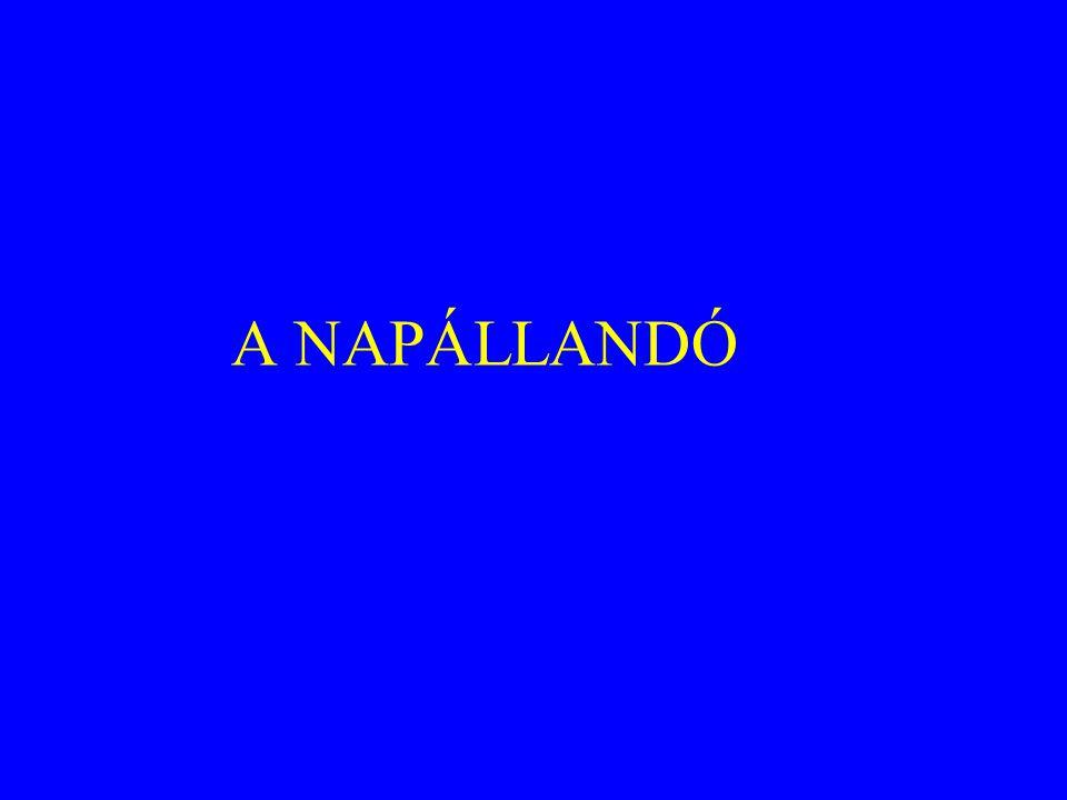 A NAPÁLLANDÓ