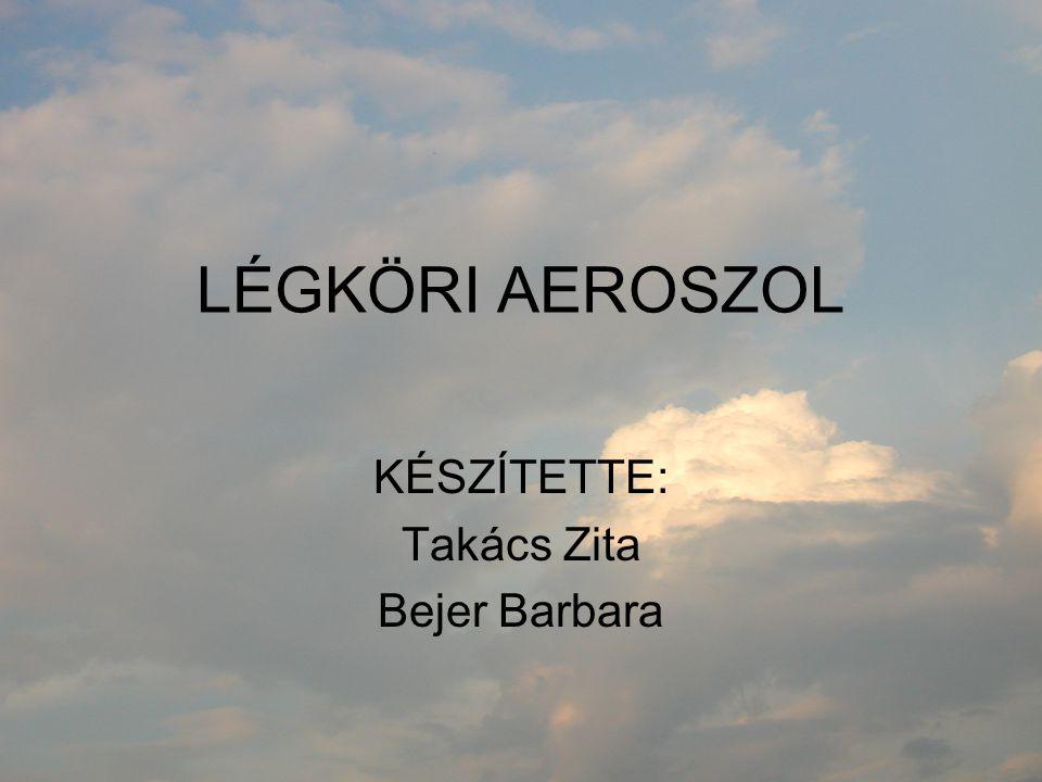 LÉGKÖRI AEROSZOL KÉSZÍTETTE: Takács Zita Bejer Barbara