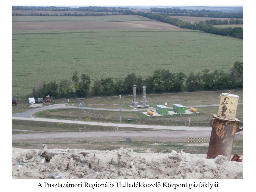 A Pusztazámori Regionális Hulladékkezelő Központ gázfáklyái
