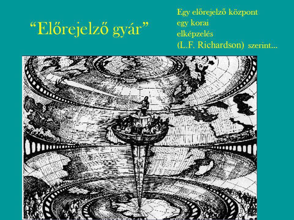 El ő rejelz ő gyár Egy el ő rejelz ő központ egy korai elképzelés ( L.F. Richardson) szerint…