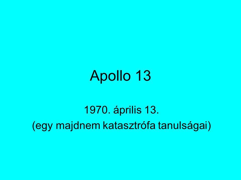 Apollo 13 1970. április 13. (egy majdnem katasztrófa tanulságai)
